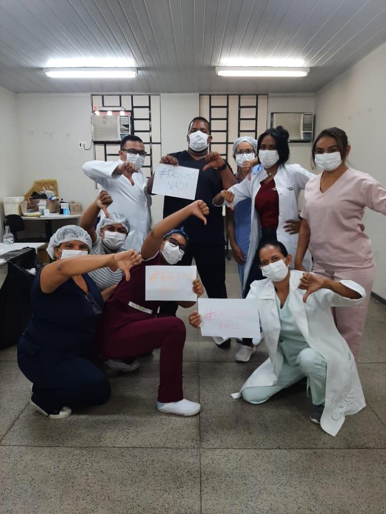 Enfermeiro é vítima de racismo durante vacinação contra a Covid-19 na UFPI (Foto: Portal Meio Norte)