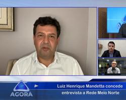 """""""Brasil não quer esse caminho de polarização"""", diz Mandetta no Jornal Agora"""