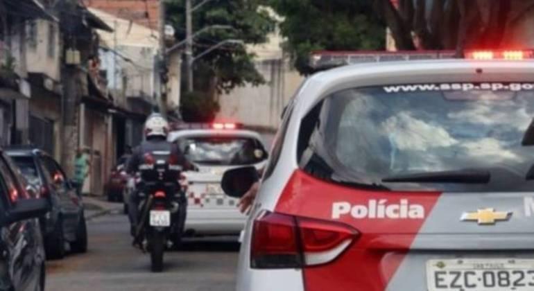 Polícia atendeu ocorrência de execução de vítima. (Foto: DIVULGAÇÃO-PMESP)