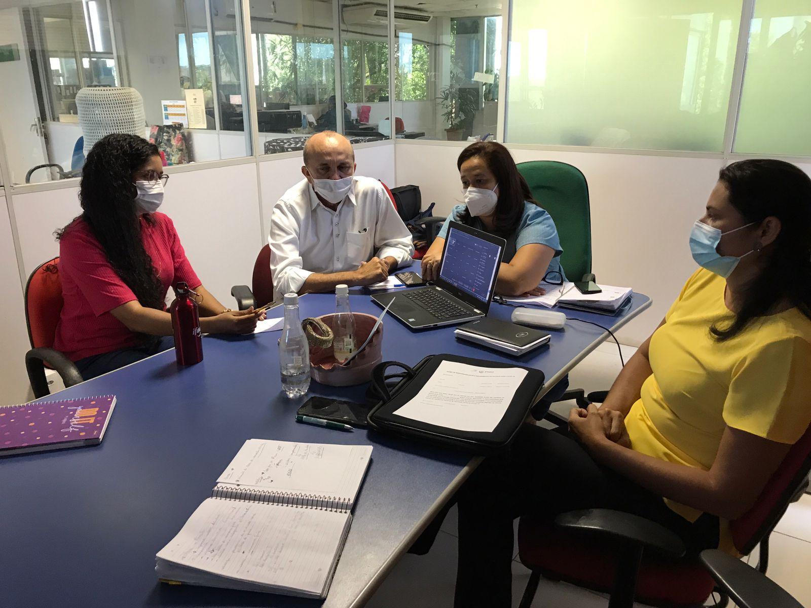 Sesapi faz reunião com as regionais de saúde sobre a compensação de vacinas (Foto: Divulgação)
