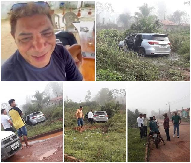 Cantor sofreu acidente na cidade de Pinheiro