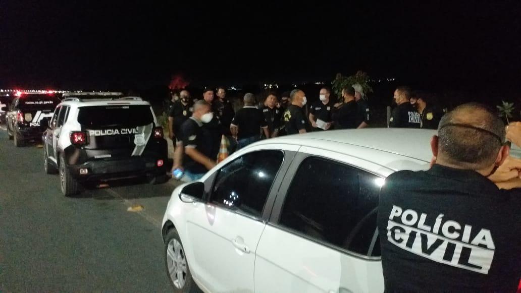 Policiais reforçam a segurança em Teresina durante a Operação Fechado II. (Foto: Divulgação)