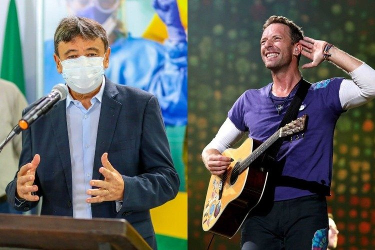 Nas redes sociais, a banda Coldplay fez o convite ao governador W Dias (Foto: Reprodução)