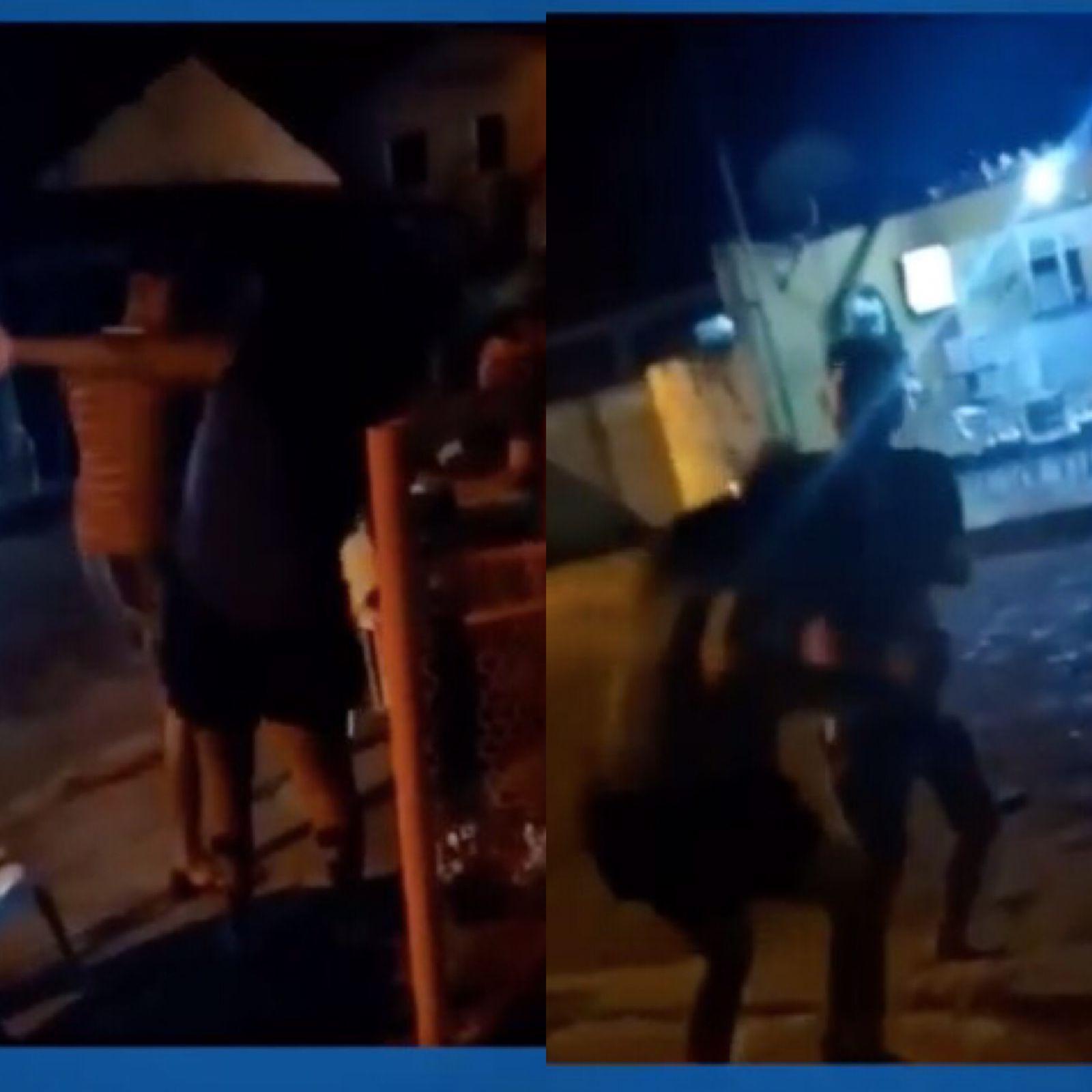 Homem agride mulher na frente de bar no Piauí