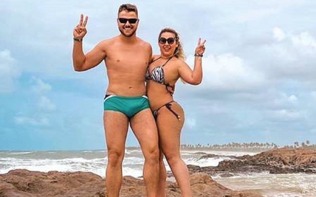 Zé Neto e sua esposa Natália Toscano