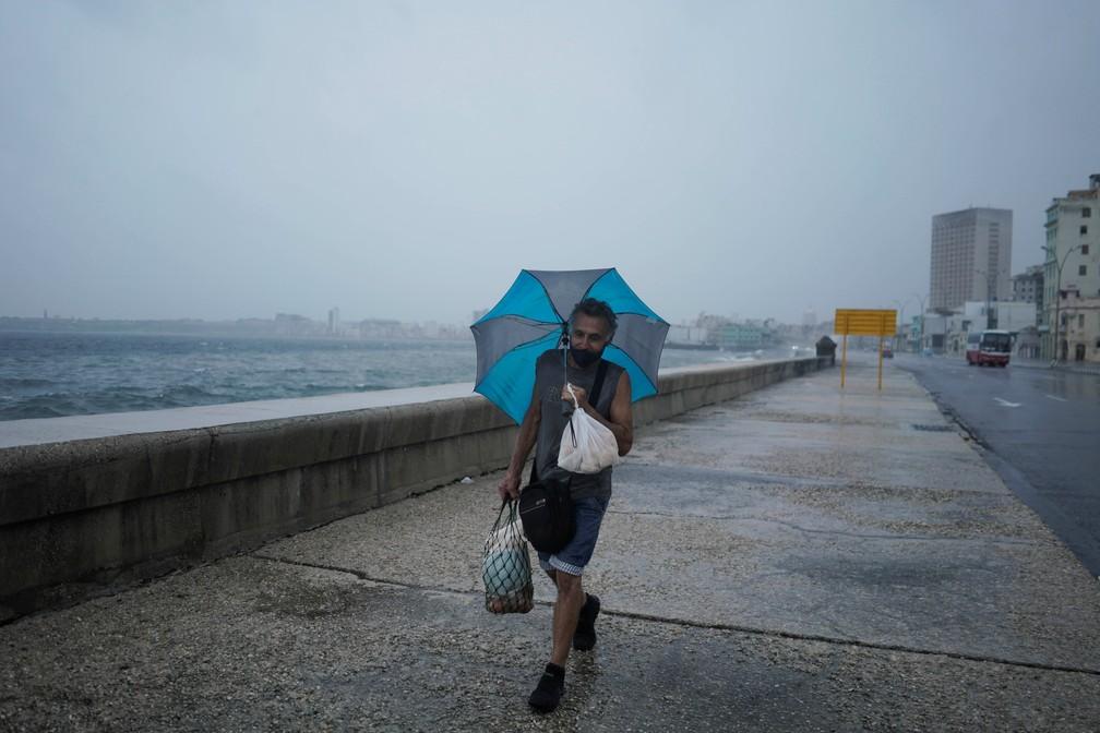 Furacão Ida se aproxima de Cuba — Foto: Reuters