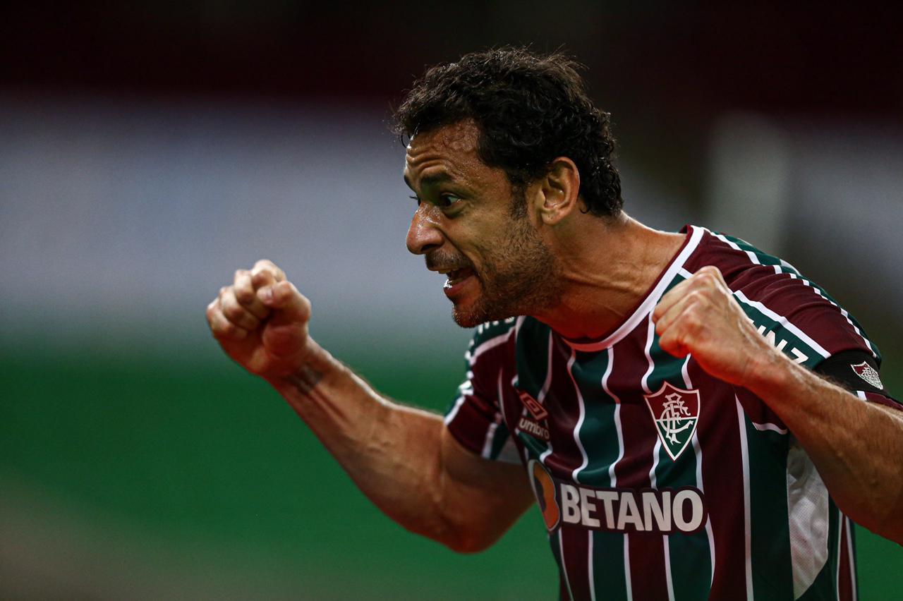 Fred comemora gol do Fluminense Foto: Alexandre Durão