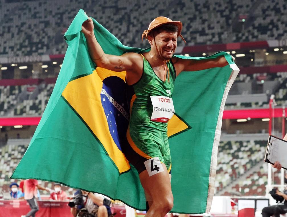 Petrúcio Ferreira ganha medalha de ouro nos 100m dos jogos Paralímpicos de Tóquio - Foto: Ivan Alvarado/Reuters