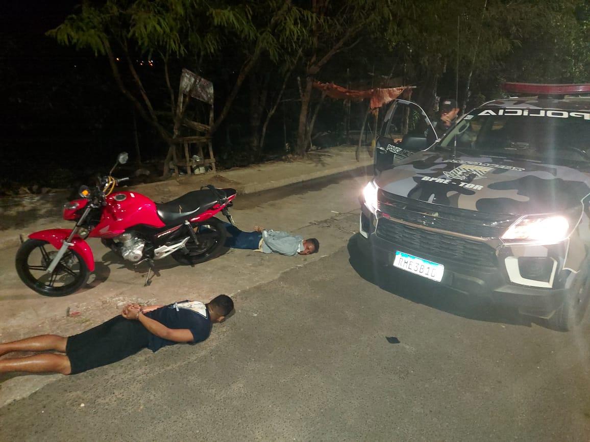 Criminosos foram presos após o assalto - Foto: Divulgação
