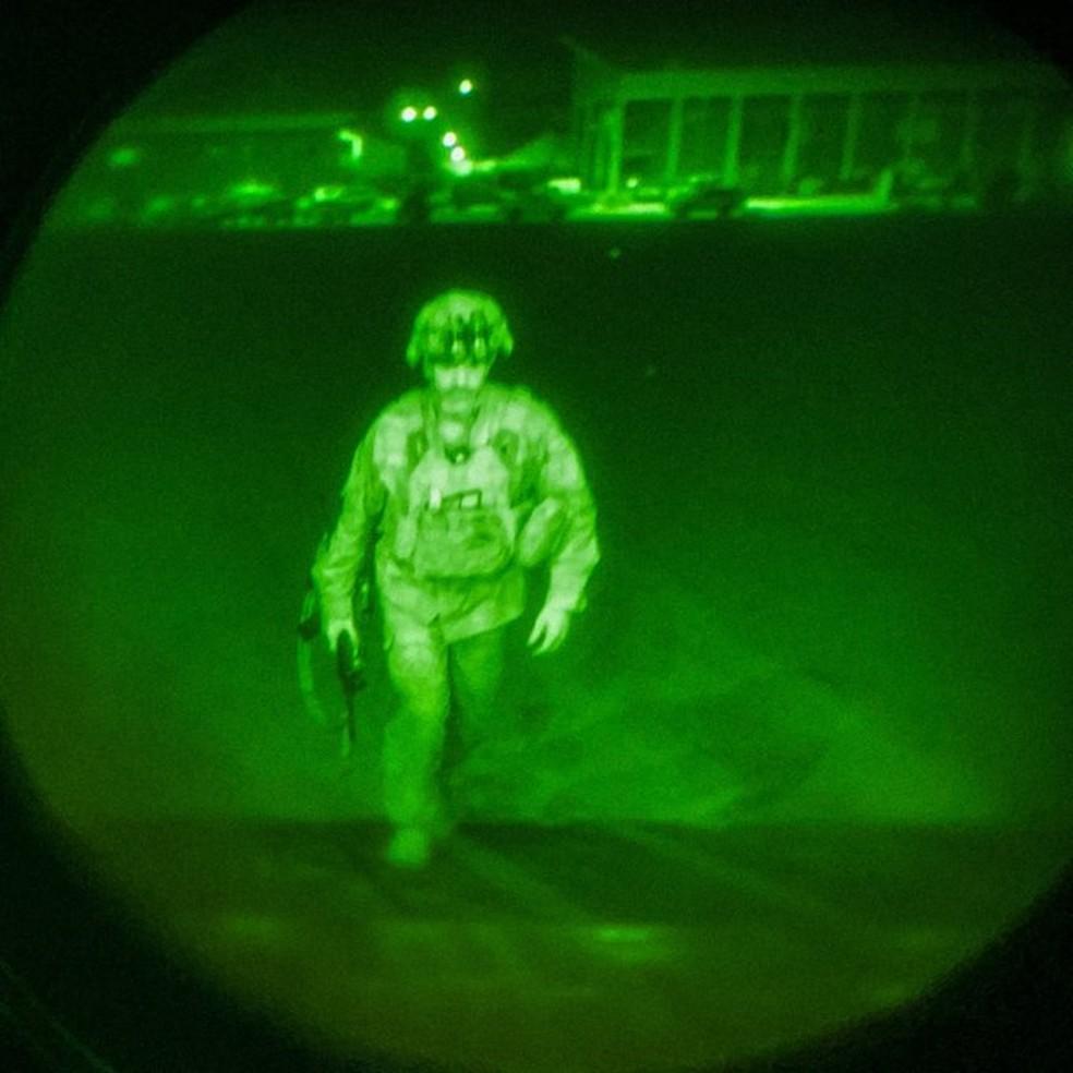 Major foi o último soldado a americano a embarcar no voo final de retirada de Cabul