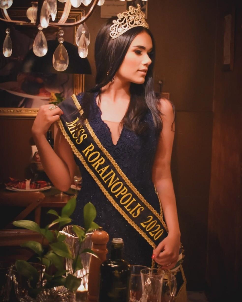 Vanessa Lays foi miss Rorainópolis 2020 — Foto: Reprodução/Instagram vanessalayss