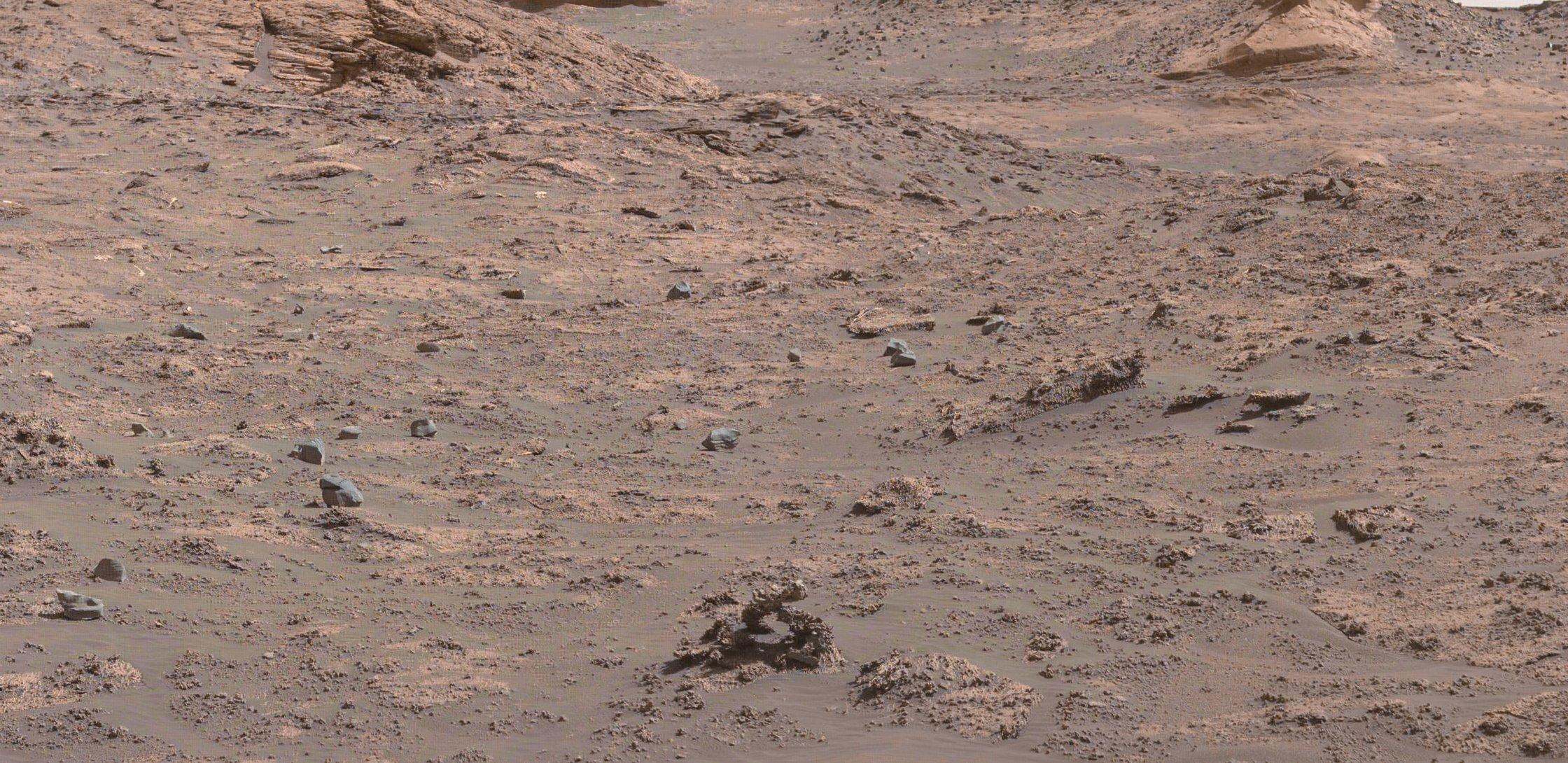 Imagem de estrutura rochosa em Marte (Foto: Reprodução / Twitter)
