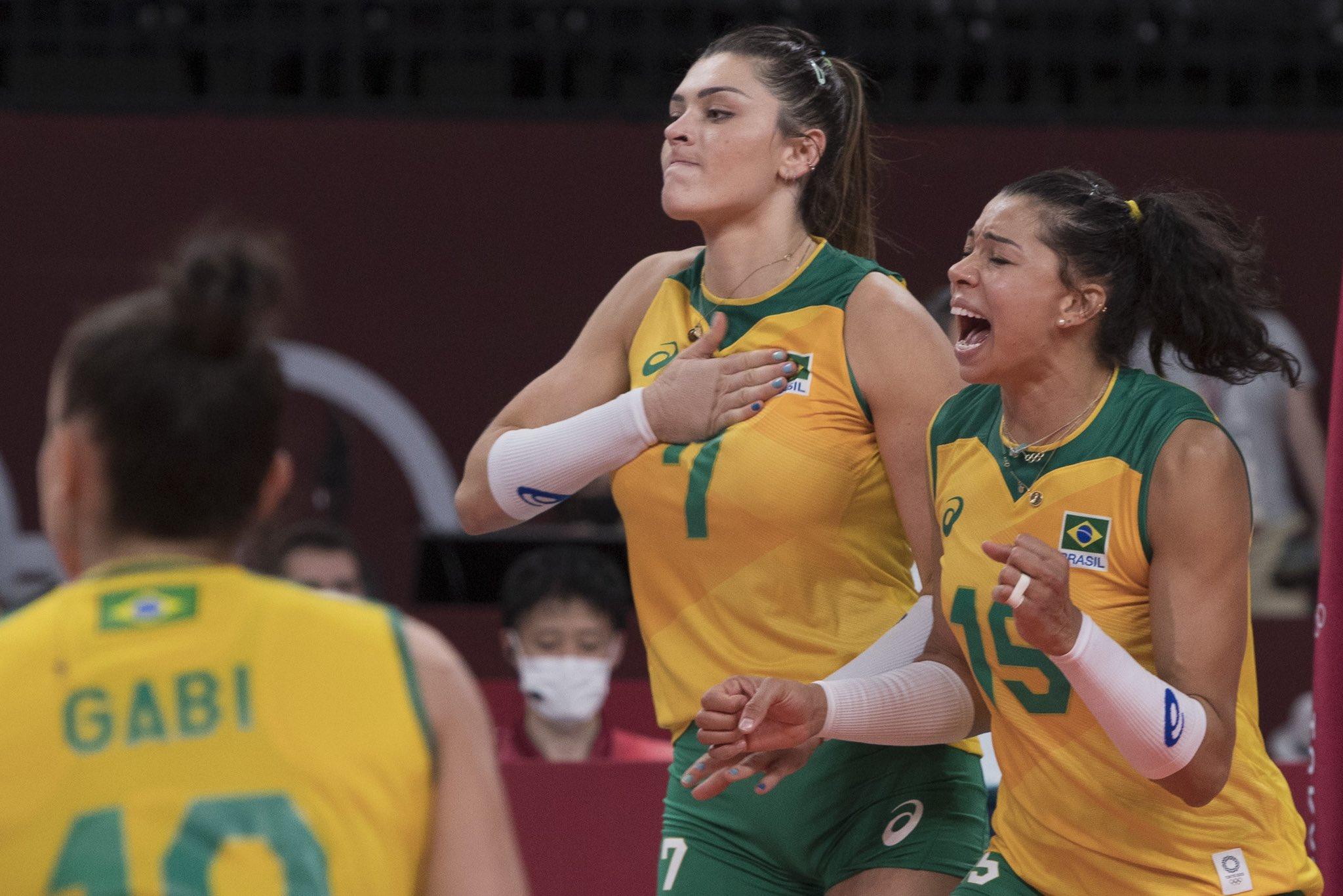Seleção feminina de vôlei brilha e vai lutar pelo Ouro no domingo (8)- Foto: Julio Cesar Guimarães/COB