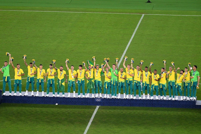 Esta es la séptima medalla de oro de Brasil en los Juegos Olímpicos de Tokio - Foto: Twitter / Conmepol Libertadores