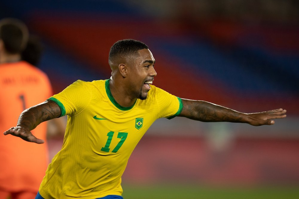 Malcom fez o gol que garantiu a vitória do Brasil em cima da Espanha - Foto: Lucas Figueiredo/CBF