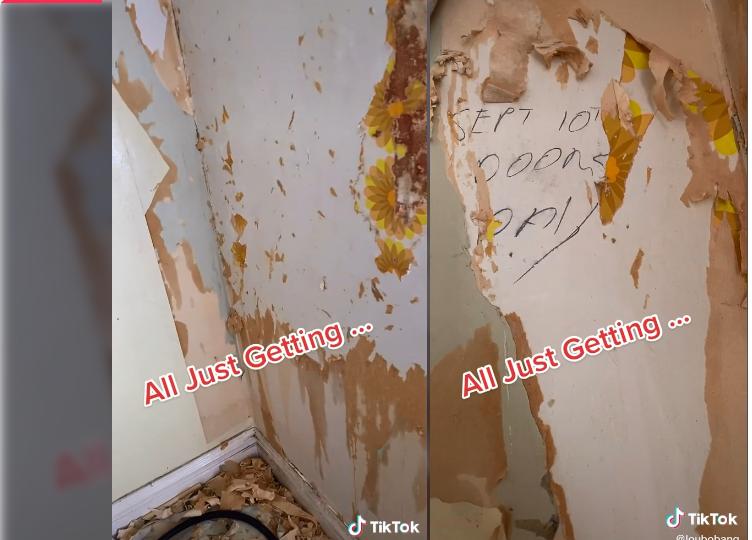 Suposta mensagem estava escondida em parede de casa que tem 150 anos- Reprodução