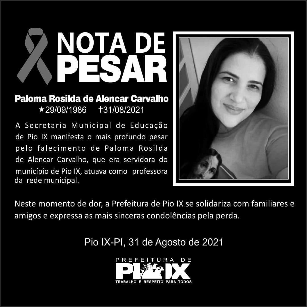 Professora de 34 anos morre vítima da Covid-19 no interior do Piauí - Imagem 3