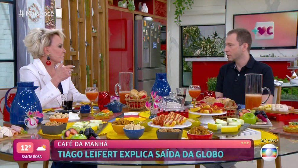 Tiago Leifert participou do Mais Você após anunciar saída da Globo - Foto: Reprodução