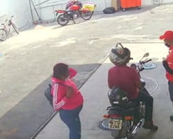 Mulher grávida e comparsa assaltam posto de combustíveis em Teresina