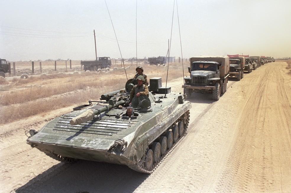 Tropa soviética durante a Guerra do Afeganistão