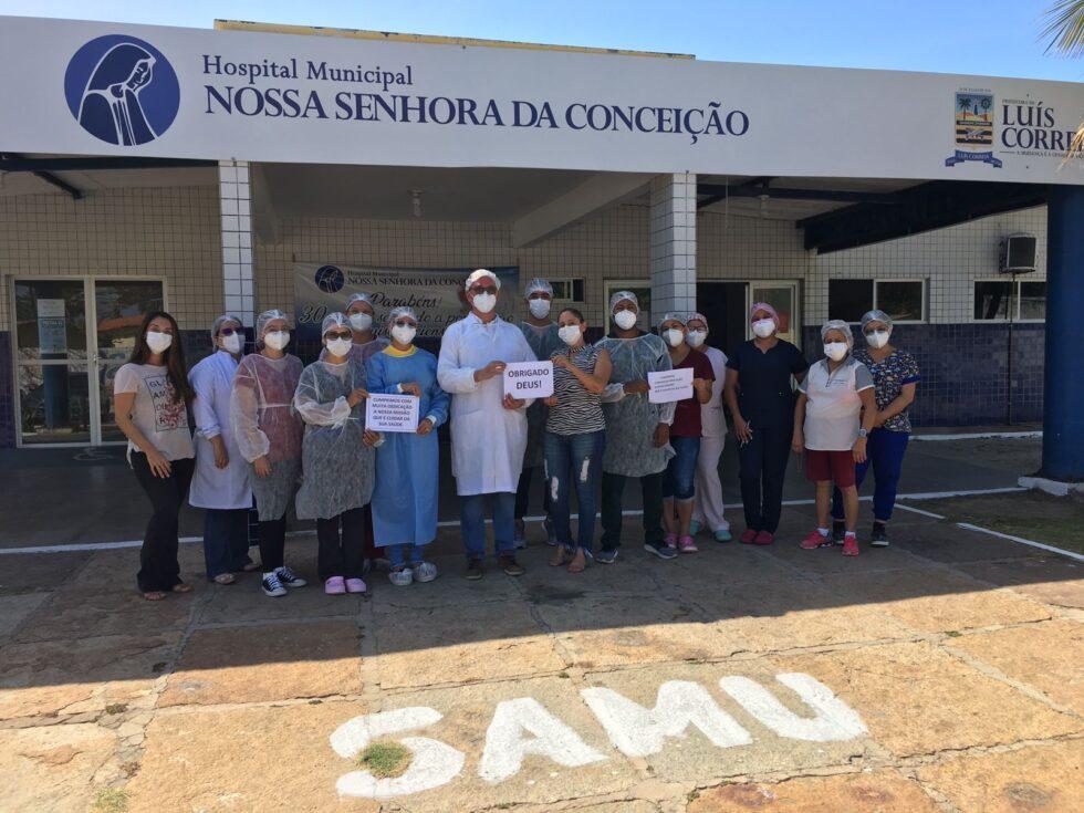 Segundo a diretora do HMNSC, Gercina Silva, o sentimento é de gratidão à equipe do hospital e aos esforços da Prefeitura de Luís Correia - Foto: Ascom