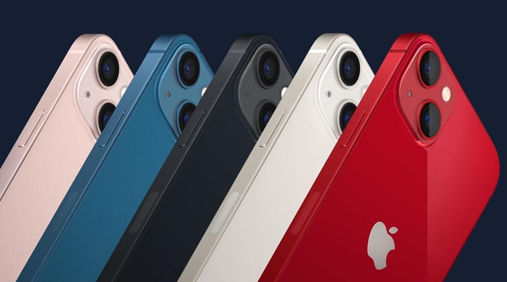 iPhone 13: aparelhos vêm em 5 cores (Apple/Reprodução)