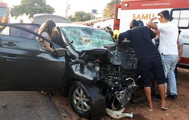 Acidente deixou duas pessoas mortas e três feridos em Luís Correia (Fot