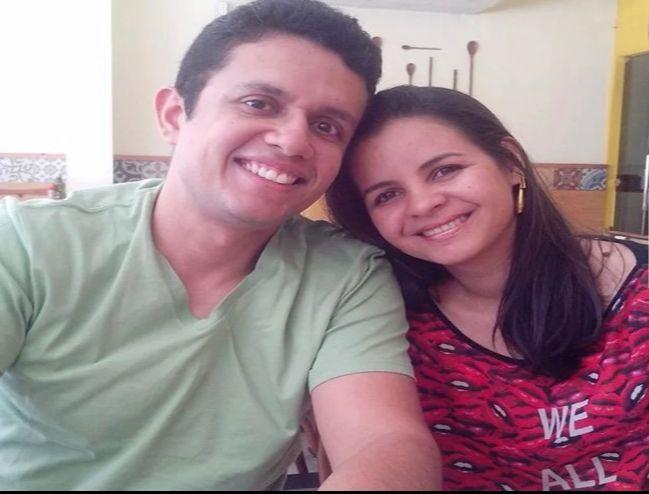 José Geovane Gomes Filho (vítima fatal) e sua esposa Lina Carla de Oliveira Pereira, que está em estado grave - Foto: Reprodução