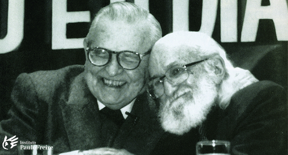 Dom Paulo Evaristo Arns e Paulo Freire. (Foto: Instituto Paulo Freire)