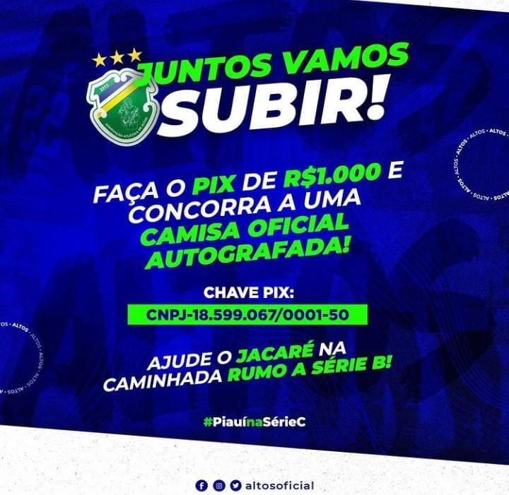 Campanha lançada pelo time do Altos/ Foto: Divulgação