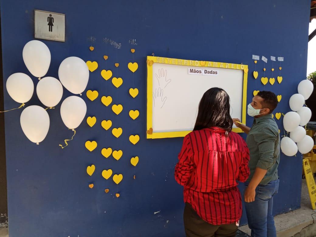 GMNC promove ação em alusão ao Setembro Amarelo com seus colaboradores- Foto: Efrém Ribeiro