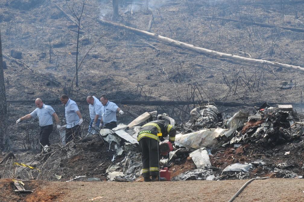 Avião caiu em Piracicaba (SP) - Foto: Estadão Conteúdo