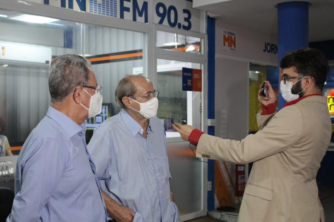 Sílvio Mendes em visita ao Grupo Meio Norte de Comunicação (Foto: Raissa Morais)
