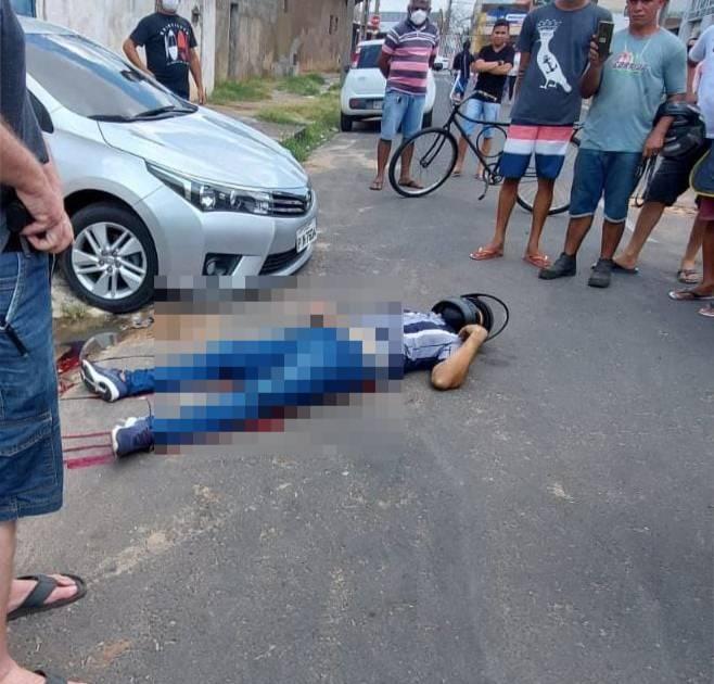 Criminoso é morto a tiros após tentar assaltar policial em Teresina (Foto: Ivan Lima/ Rede Meio Norte)