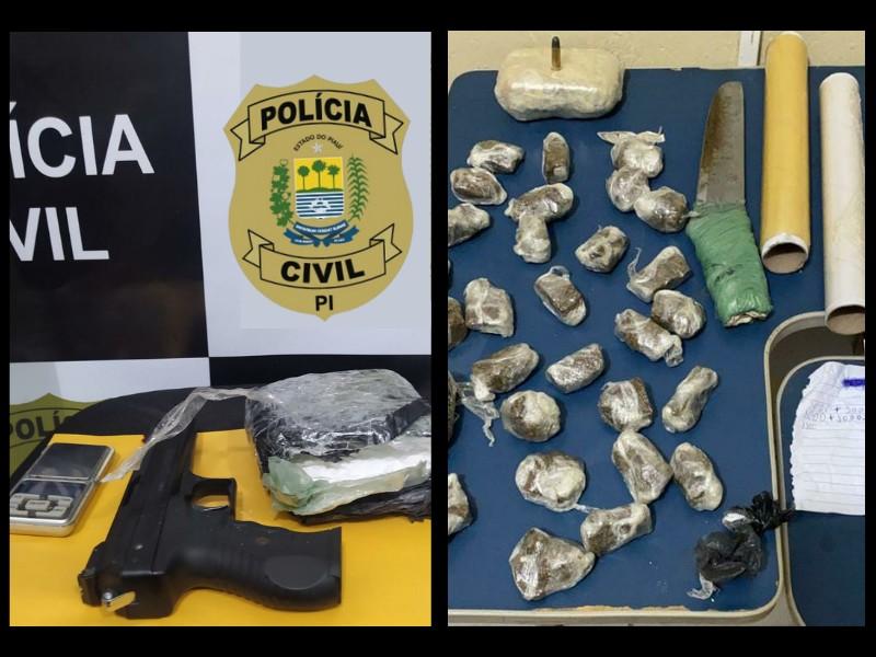 Um dos investigados atuava como distribuidor de entorpecentes, vendendo em grande quantidade para os demais alvos - Foto: Divulgação/Polícia Civil