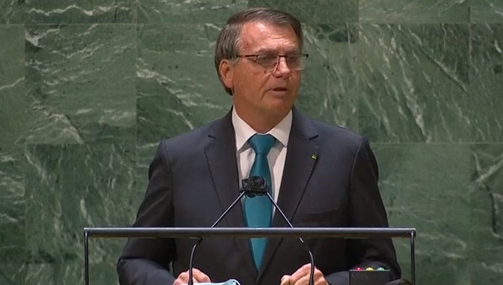 Bolsonaro discursa na 76ª Assembleia Geral da ONU