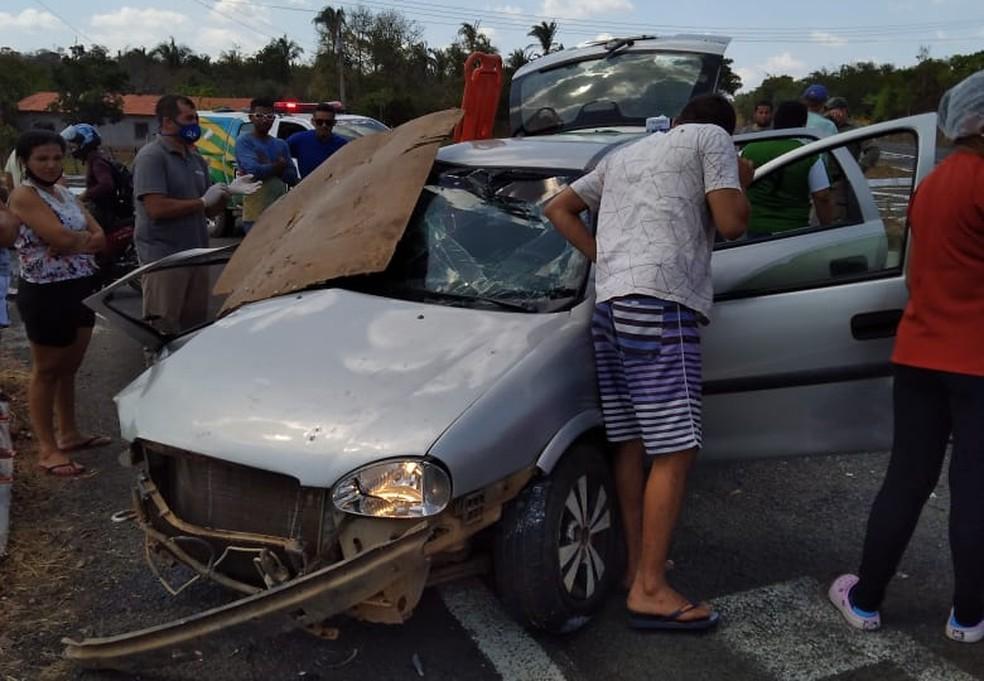 Idoso morre e adolescente fica ferida em grave acidente na BR-316 no Piauí (Foto: Divulgação)