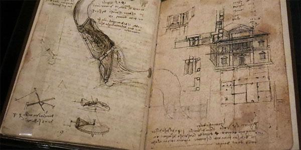 Codex Leicester, avaliado em US$ 30,8 milhões quando ele o adquiriu em um leilão em 1944. (Foto: Reprodução)