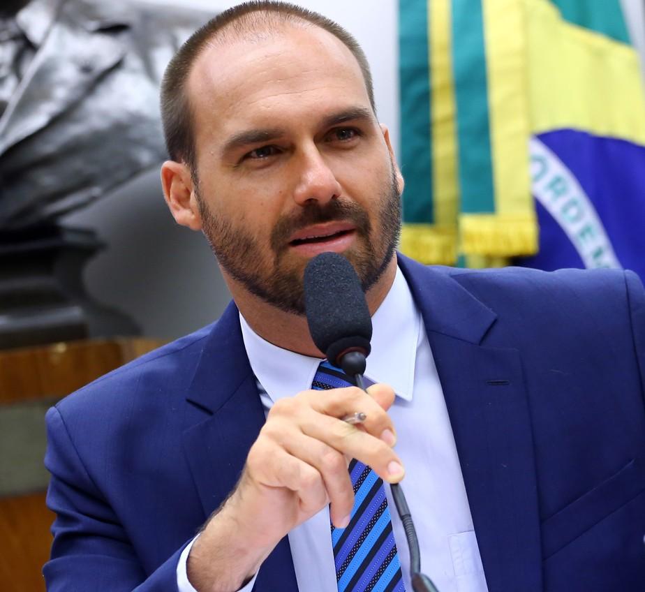 Eduardo Bolsonaro já tinha tomado a primeira dose da vacina - Foto: Danilo Borges/Câmara dos Deputados