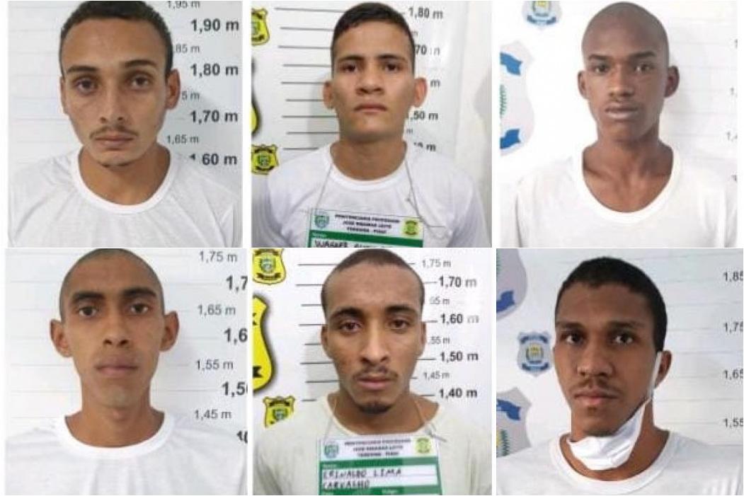 Sejus divulga nome e fotos dos detentos que conseguiram fugir da Cadeia Pública de Altos - Foto: Divulgação