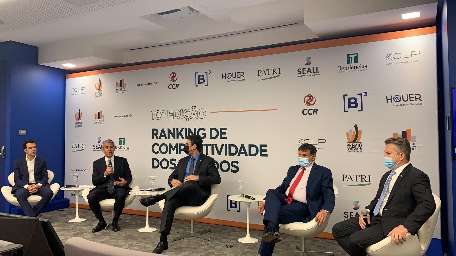 Governador Wellington Dias participa do lançamento do Ranking de Competitividade dos Estados (Divulgação)