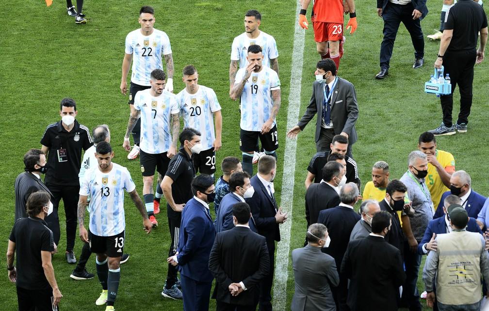 Jogo Brasil x Argentina pelas Eliminatórias foi suspenso Foto: Marcos Ribolli