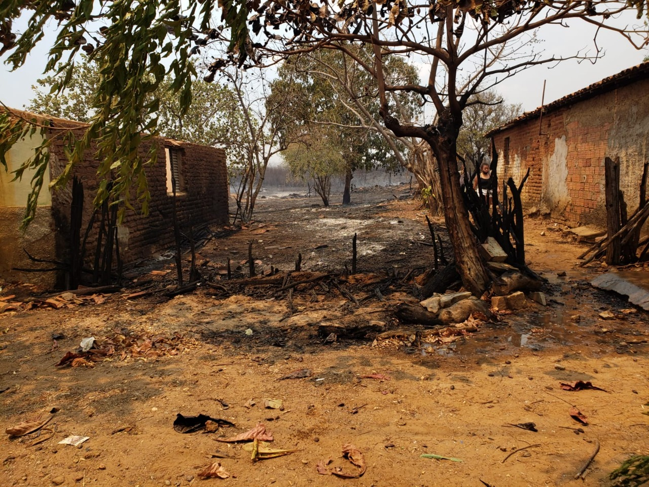 Fogo foi controlado em Valença do Piauí   FOTO: Reprodução