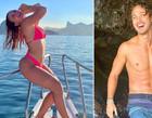 Larissa Manoela posa de biquíni em barco e novo affair faz elogio