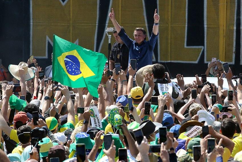 Manifestações pró-governo realizada na terça-feira (Fabio Rodrigues Pozzebom/Agência Brasil)