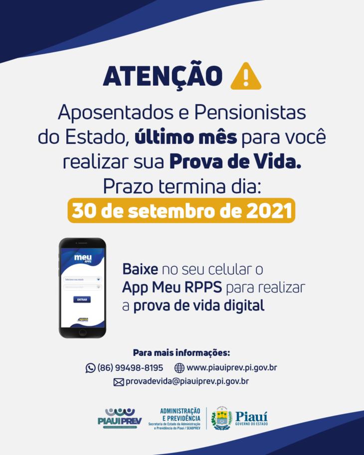 O procedimento é obrigatório para todos os servidores inativos, aposentados, pensionistas e militares da reserva do Governo do Estado do Piauí - Foto: Divulgação