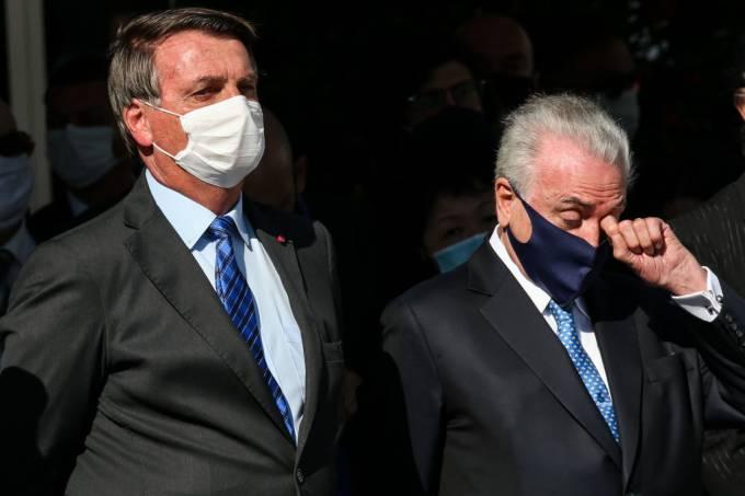 Bolsonaro foi aconselhado por Temer a recuar em relação aos ataques ao STF ( foto: