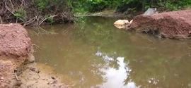 Estrada vicinal prejudica curso do rio abastecedor da Lagoa do Portinho