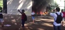 Brasília Fervendo: Manifestantes incendeiam ministérios em protesto contra Temer