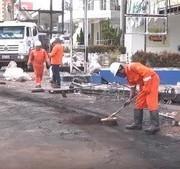 Caminhão tanque carregado de combustível explode e atinge veículos e lojas em São Luís